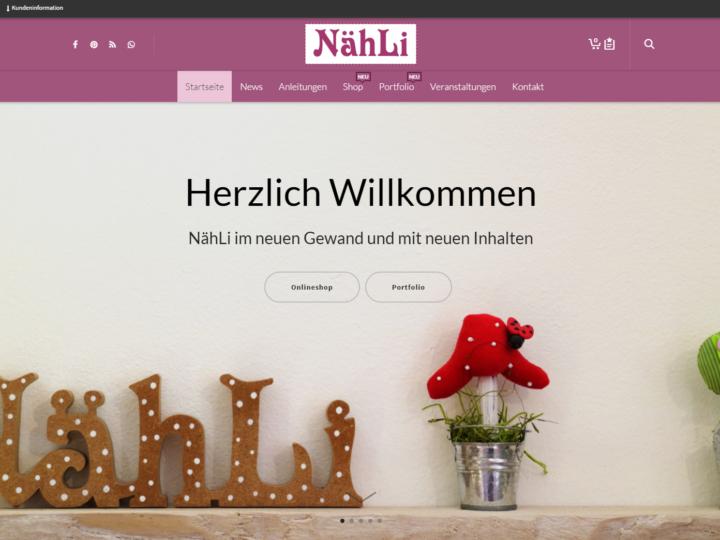 Herzlich Willkommen – ich bin das Neue naehli.de